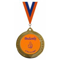 Medaille: Bedankt je bent een topper - Oranje