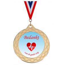 Medaille: Bedankt voor de goede zorg - Blauw